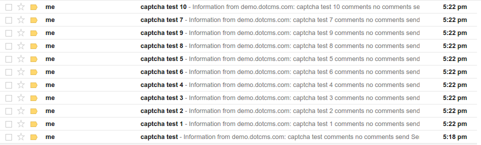 CVE-2016-8600 dotCMS - captcha bypass by reusing valid code - mass spam